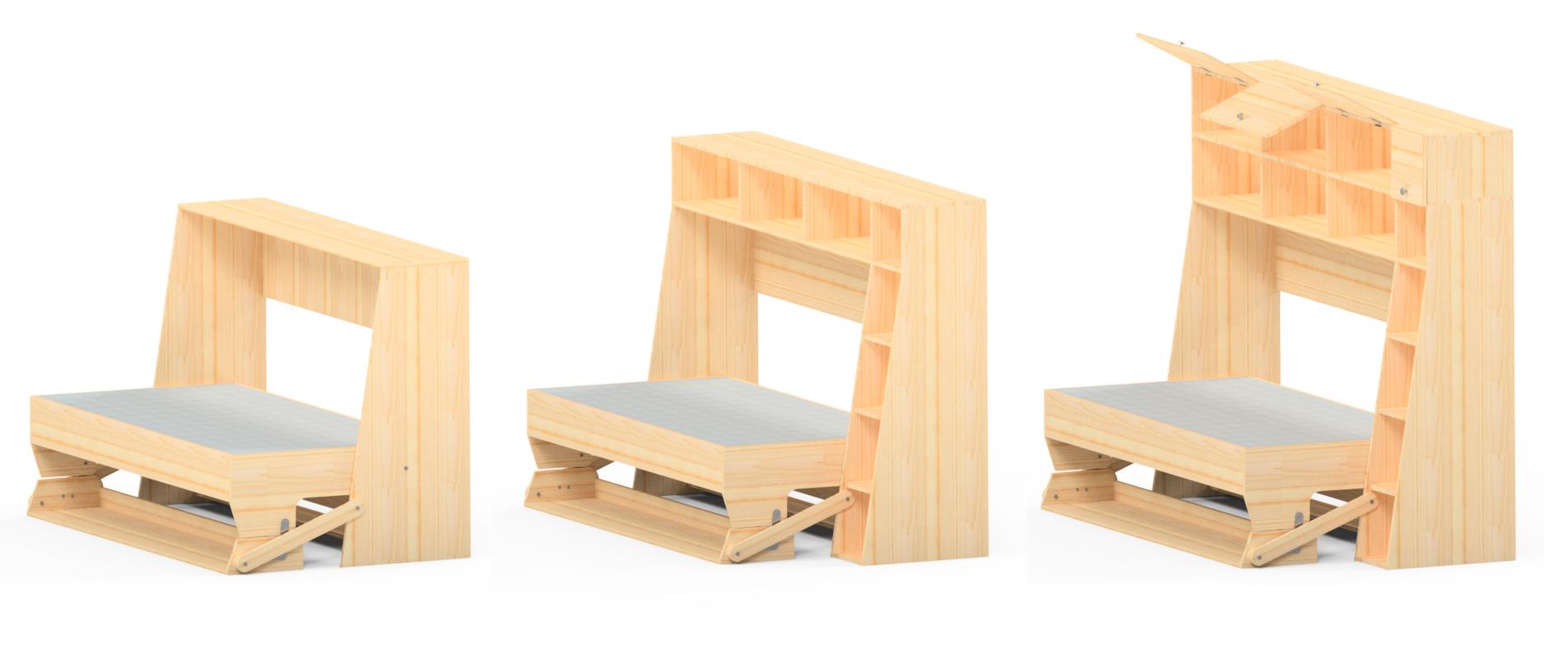 Camas abatibles con escritorio