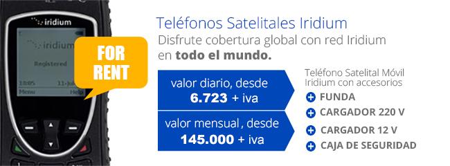 Teléfonos Satelitales Iridium