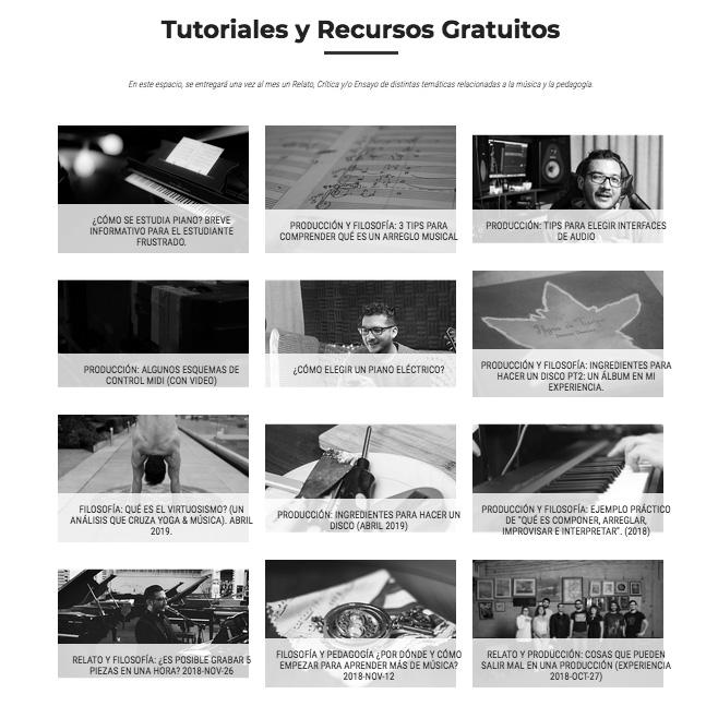 Tutoriales y recursos gratuitos