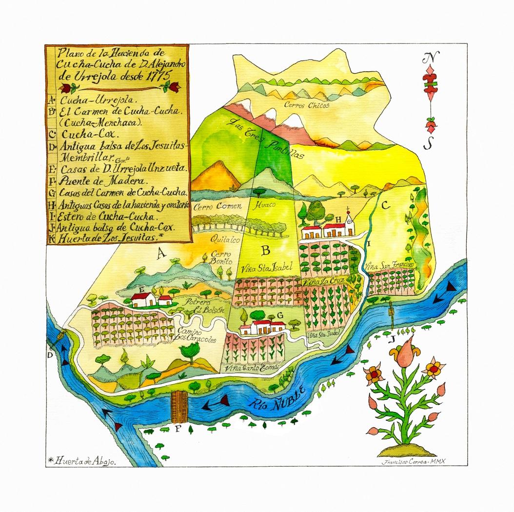 Mapa Valle Diaz de Itata