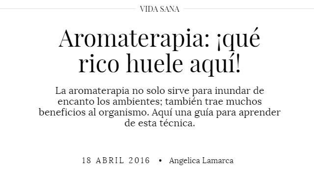 Revista Mujer - Aromaterapia: ¡qué rico huele aquí!