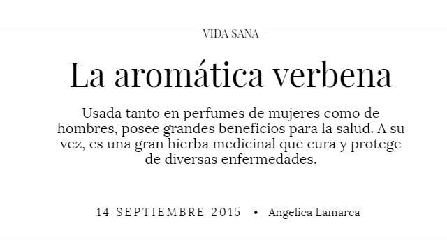 Revista Mujer - La aromática verbena
