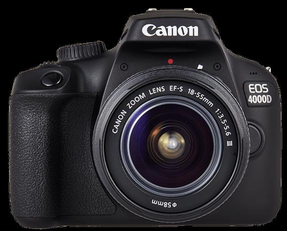 <b><br><small>Disfruta de la nueva</small><br><big>Canon 4000D</big></b>